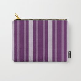 Purple Victorian Lady Stripe Carry-All Pouch