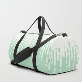 Marble and Geometric Diamond Drips, in Mint Duffle Bag
