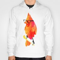 punk Hoodies featuring Punk bird by Robert Farkas
