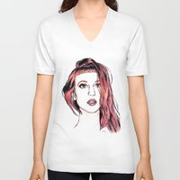 hayley williams V-neck T-shirts featuring Hayley Williams by Adora Chloe