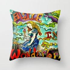 Alice in Wonderbra  Throw Pillow