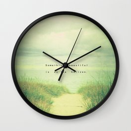 Something Beautiful Wall Clock