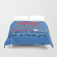 "celebrity Duvet Covers featuring ""Celebrity"" by Kramcox"