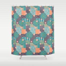 Kaleidoscopic Safari Shower Curtain