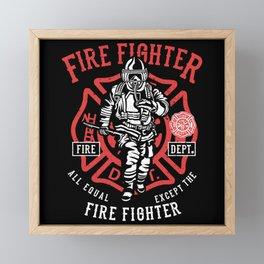 Fire Brigade - Full commitment Framed Mini Art Print