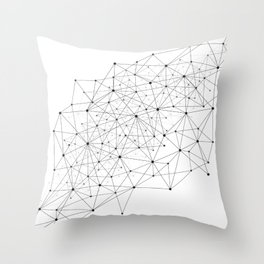 Networks concept and cloud computing, structure of society, variants of decisions, neural network Throw Pillow