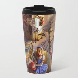 Sandra's Steampunk Alice in Wonderland Travel Mug