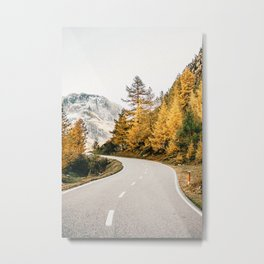 Autumn Road Trip Metal Print