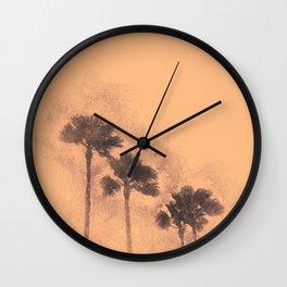 California - Palm Trees Wall Clock