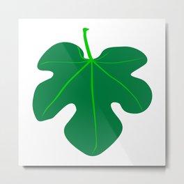 Fig Leaf Metal Print