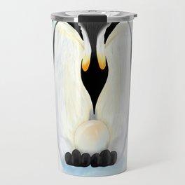 Penguin Dad and his Egg Travel Mug