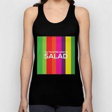 My favorite color is salad Unisex Tank Top