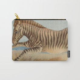 Vintage African Zebra Illustration (1890) Carry-All Pouch