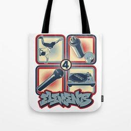 Four Elements of Hip Hop Tote Bag