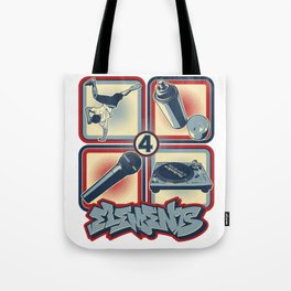 Four Elements of Hip Hop Tote Bag