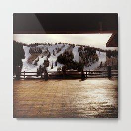 Mountain Veranda Metal Print
