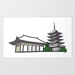 Icon-O-Tecture | Nara Kofukuji Art Print