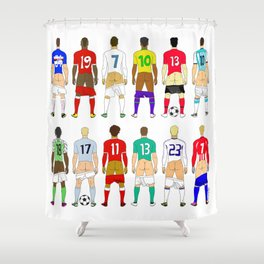 Soccer Butts Shower Curtain