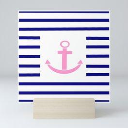 Anchor and marinière 2 Mini Art Print