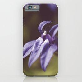 Dramatic Blue Cardinal Flower Botanical / Floral / Nature Photo iPhone Case