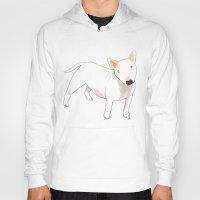 terrier Hoodies featuring Bull Terrier by jo clark