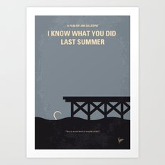 No650 My I Know What You Did Last Summer minimal movie poster Art Print