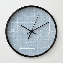 Omaha Map, USA - Slate Wall Clock