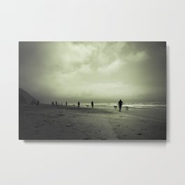 Zombie Apocalypse: The Beach Metal Print