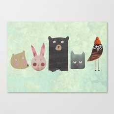 Animal love Canvas Print