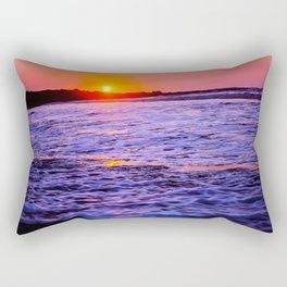 dusk to wave Rectangular Pillow