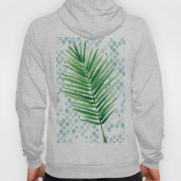 Tropical Palm Frond Watercolor Painting Hoody