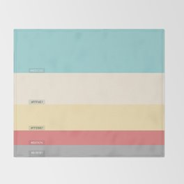 Palette color Cotton candy Throw Blanket