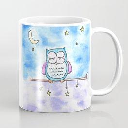 Sleepy watercolor owl Coffee Mug