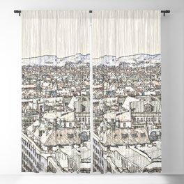 Austria - Sketchy Vienna 2 Blackout Curtain