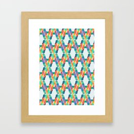 A for Alessandro - Unique, personalised initial print. Framed Art Print