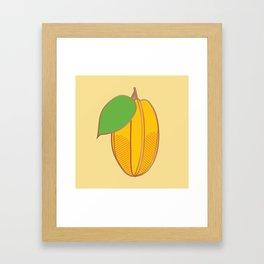Starfruit Framed Art Print
