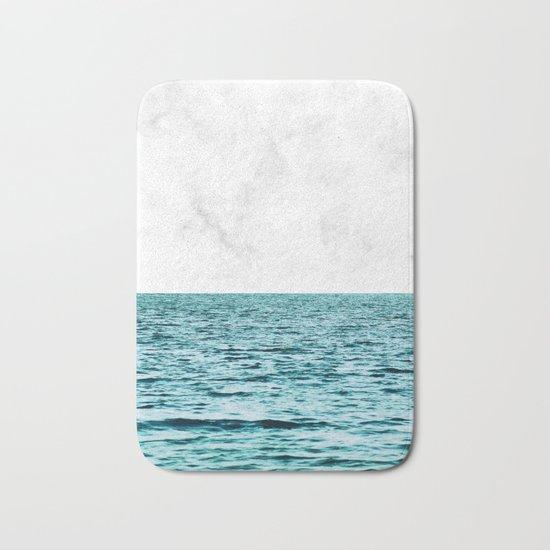 Ocean + Marble    #society6 #decor #buyart Bath Mat
