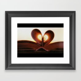 Love Book Framed Art Print