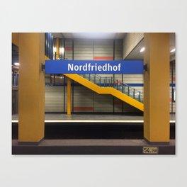 Munich U-Bahn Memories - Nordfriedhof Canvas Print