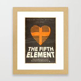 Me Protect You - The Fifth Element Poster Framed Art Print