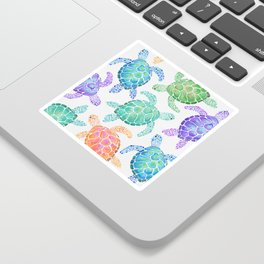 Sea Turtle - Colour Sticker