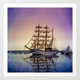 Sail Boston -Guayas Art Print