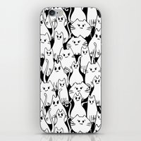 army iPhone & iPod Skins featuring Cat Army by From Flora With Love