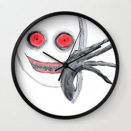 Behind the Shower Curtain Wall Clock