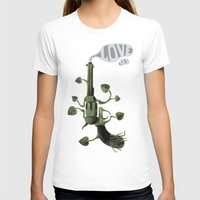 gun T-shirts featuring Gun by mariotarrago