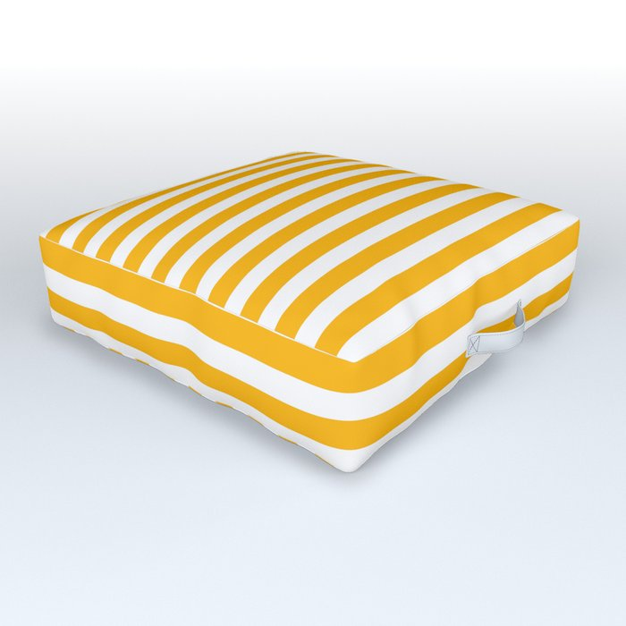 Striped Yellow Outdoor Floor Cushion By
