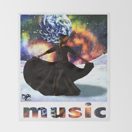 music is life Throw Blanket