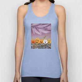 wood frogs, smiling pumpkins, & ghost clouds Unisex Tank Top