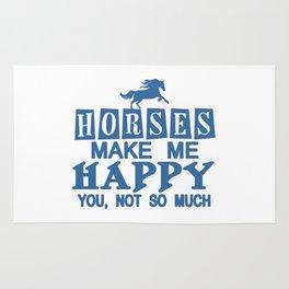 Horses Make Me Happy Rug
