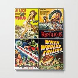 50s Sci-Fi Poster Collage #2 Metal Print